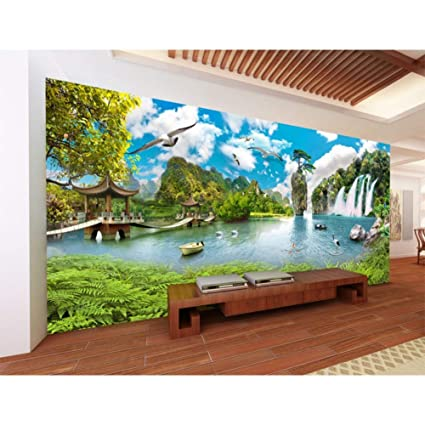 Yybhtm Mural Wallpapers China Landscape Ultra Hd Waterfall