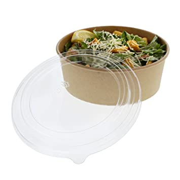 48 OZ Kraft Bowls with Lids, Case of 150