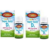 Carlson Super Daily D3 for Baby 400iu Supplement, 0.35 Fluid Ounce (2 Pack) by Carlson Laboratories