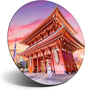 Awesome Magnet for Refrigerator, Fridge - Stunning Temple Gate Tokyo Japan for Office, Cabinet and Whiteboard, Magnetic Stickers, Cool Gift #12741