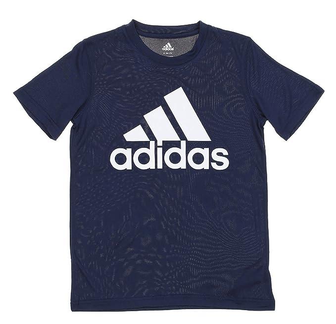 detallado los recién llegados niño adidas Youth Big Boys Athletic playera, Azul marino/Blanco ...