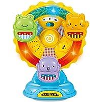 Infunbebe Animal Ferris Wheel Spinning Wheel Toy w/ Music & Light