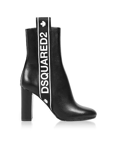Dsquared2 Femme ABW0037046010262124 Noir Cuir Bottines  Amazon.fr ... 916687bc11cd