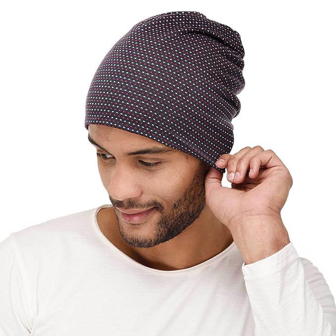 e6d69eb3d99 VR Designers Soft Printed Multipurpose Beanie Cap for Men