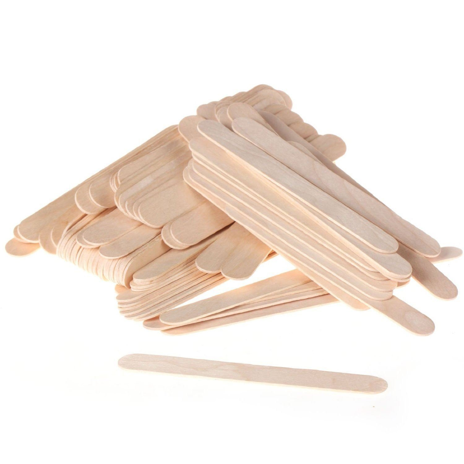 Blanco Large Wide Wood Wax Spatula Applicator 6'' x 3/4'' (Box of 500)