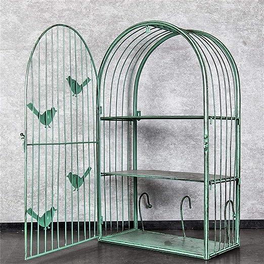 Yuany Estantes de Jaula de pájaros de Hierro Retro, decoración de ...