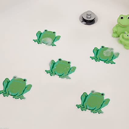 Non Slip Frog  Safety Decals Treads Bath Tub Anti Skid Shower Applique