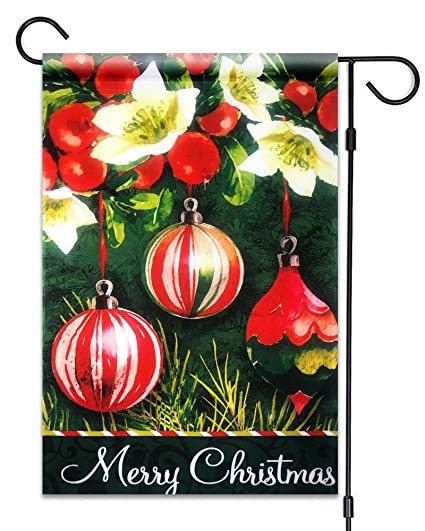 51groups christmas ball ornaments garden flag 12x18 merry christmas sign christmas decorative flag