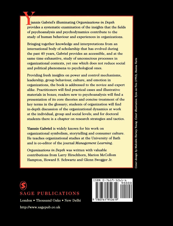 Gabriel organizations in p depth the psychoanalysis of the gabriel organizations in p depth the psychoanalysis of the psychoanalysis of organizations amazon yiannis gabriel 9780761952619 books biocorpaavc