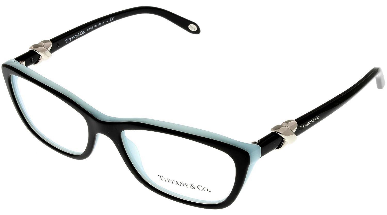 3b021c134ef Tiffany   Co. Women Eyeglasses Designer Black Rectangular TF2074 8055 at  Amazon Women s Clothing store