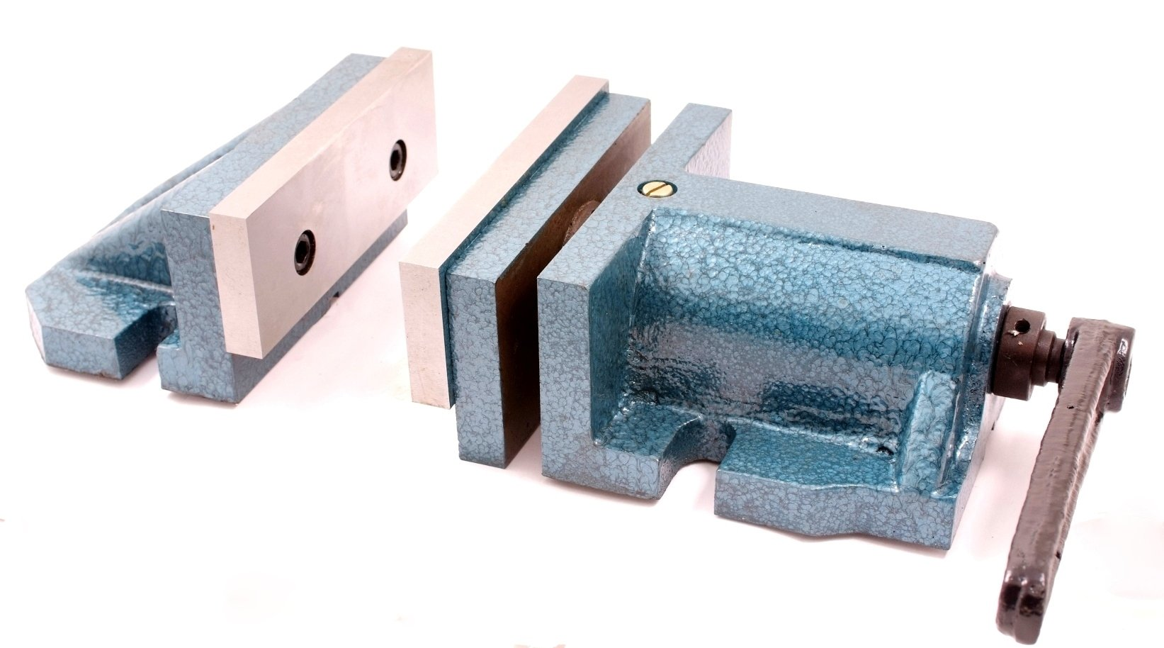 HHIP 3900-1728 2 Piece Quick Clamp Mill Vise, 8'' Width x 4'' Depth Jaw, .5'' Clamp (Pack of 1) by HHIP