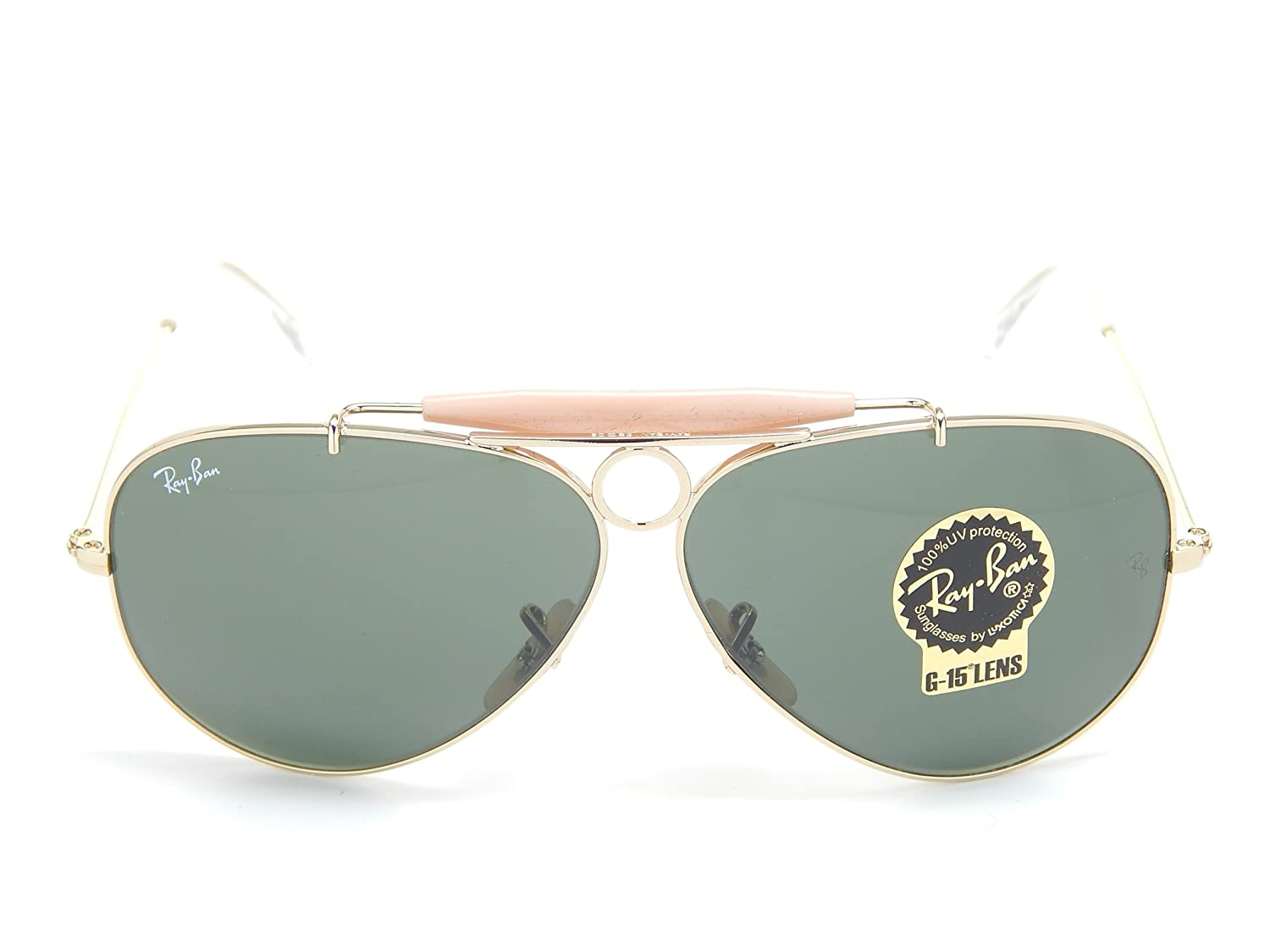 604a4b7dc1 Ray Ban Shooter RB3138 001 Arista G-15 XLT 58mm Sunglasses  Amazon.co.uk   Clothing