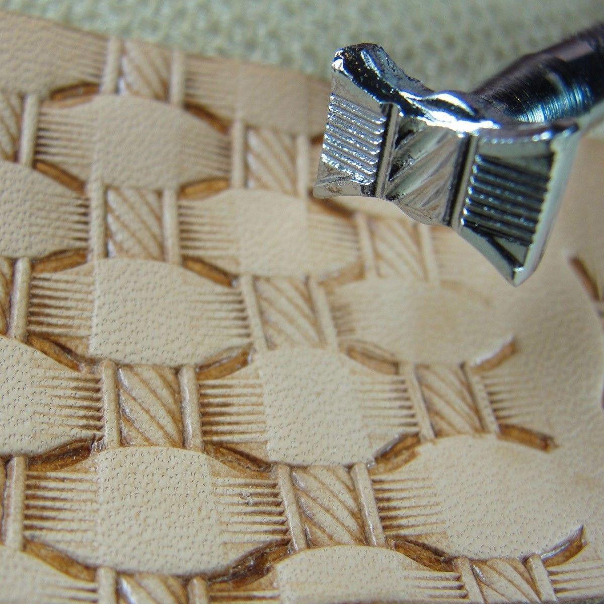 Steel Craft Japan - #X513 Hourglass Rope Basketweave Stamp (Leather Tool)