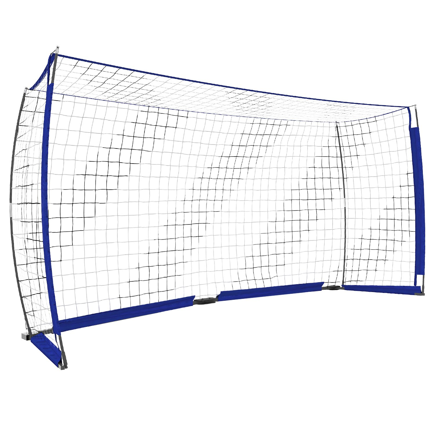 Yuebo Portable Soccer Goal Net裏庭、12 x 6 ft/6 x 4 ftサッカーBow Net子供&大人with Carryバッグ B07BNG2V8512x6 ft Blue