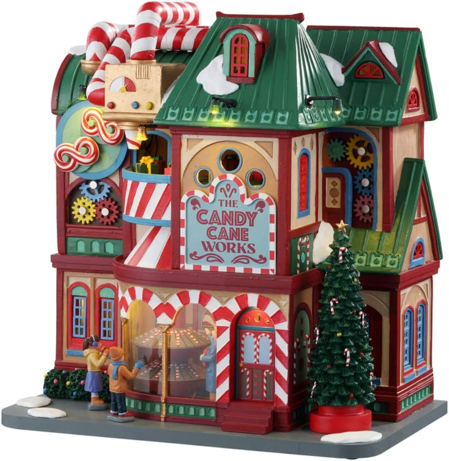 Lemax 05681 The Candy Cane Works Village Building, Multicolored