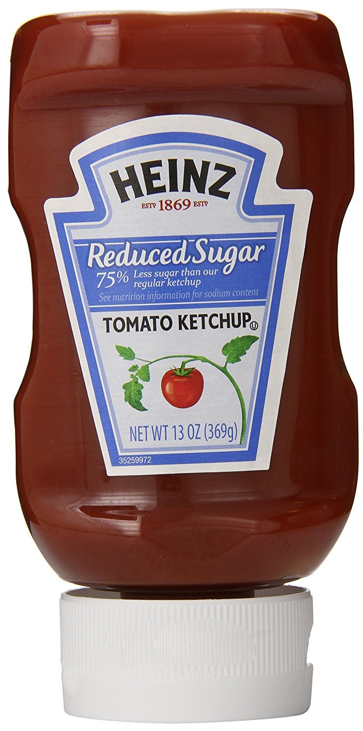 Heinz, Ketchup, Reduced Sugar, Pack of 6, Size - 13 OZ, Quantity - 1 Case