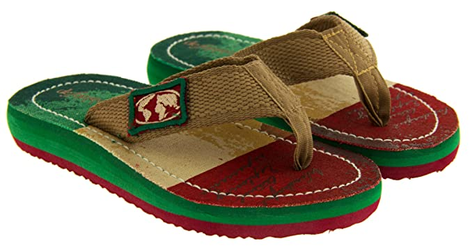 De Fonseca Boys Inazione Italy - (green/red Sole) Flag Toe Post Flip Flops  Sandals 1-2 UK (33-34 EU) Older Child: Amazon.co.uk: Shoes & Bags