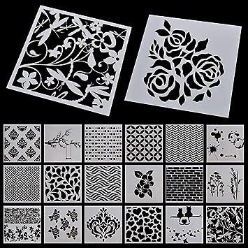 Plantilla de grano para pintar a mano, diseño hueco, para bricolaje, decoración de moldes: Amazon.es: Hogar