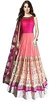 Shivam Fashion Party Wear Georgette Un-stiched Lengha Choli for women (pink)