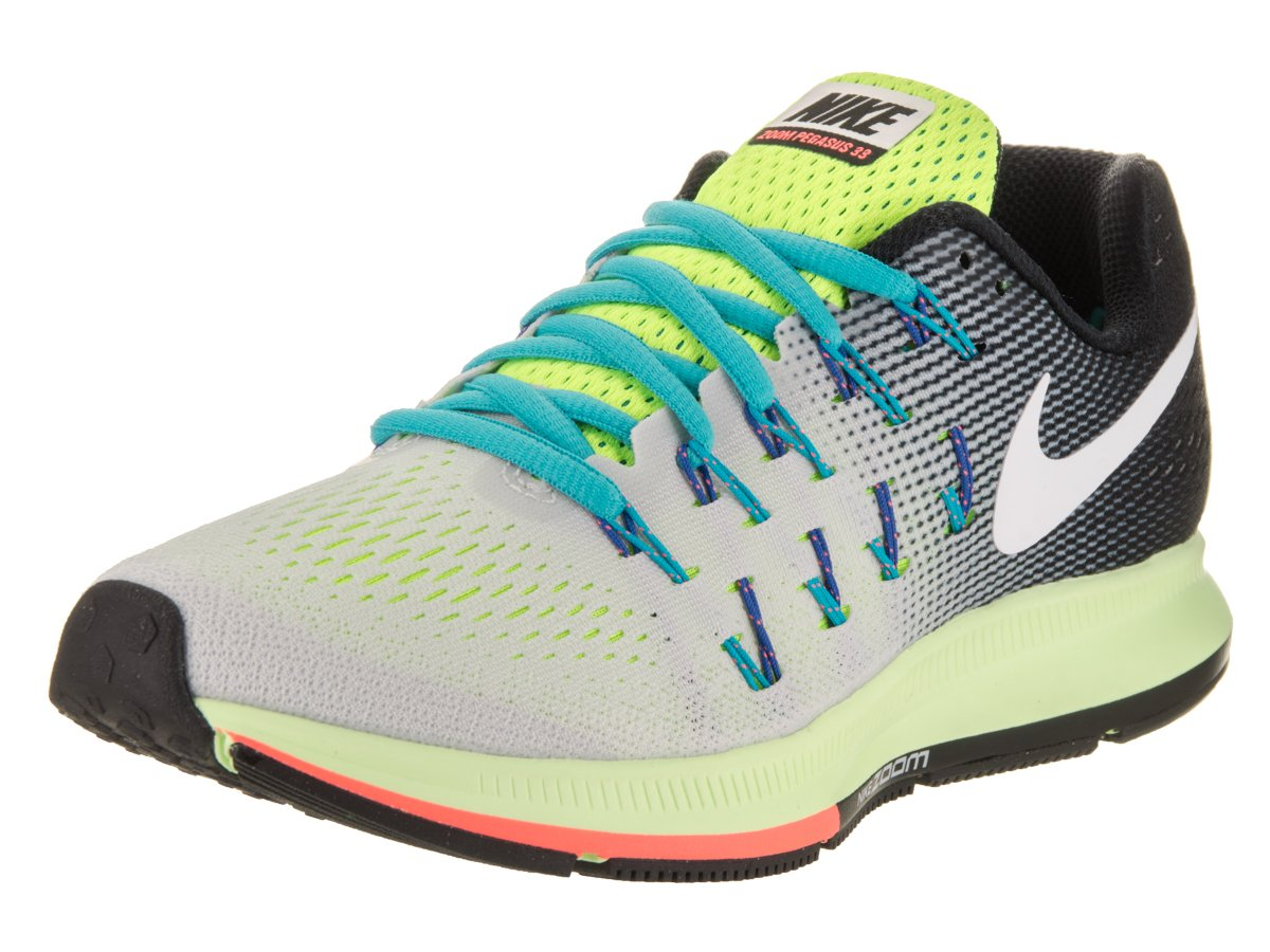 NIKE Women's Air Zoom Pegasus 33 B01CIYS9JE 7.5 B(M) US|Pure Platinum/white-black-volt