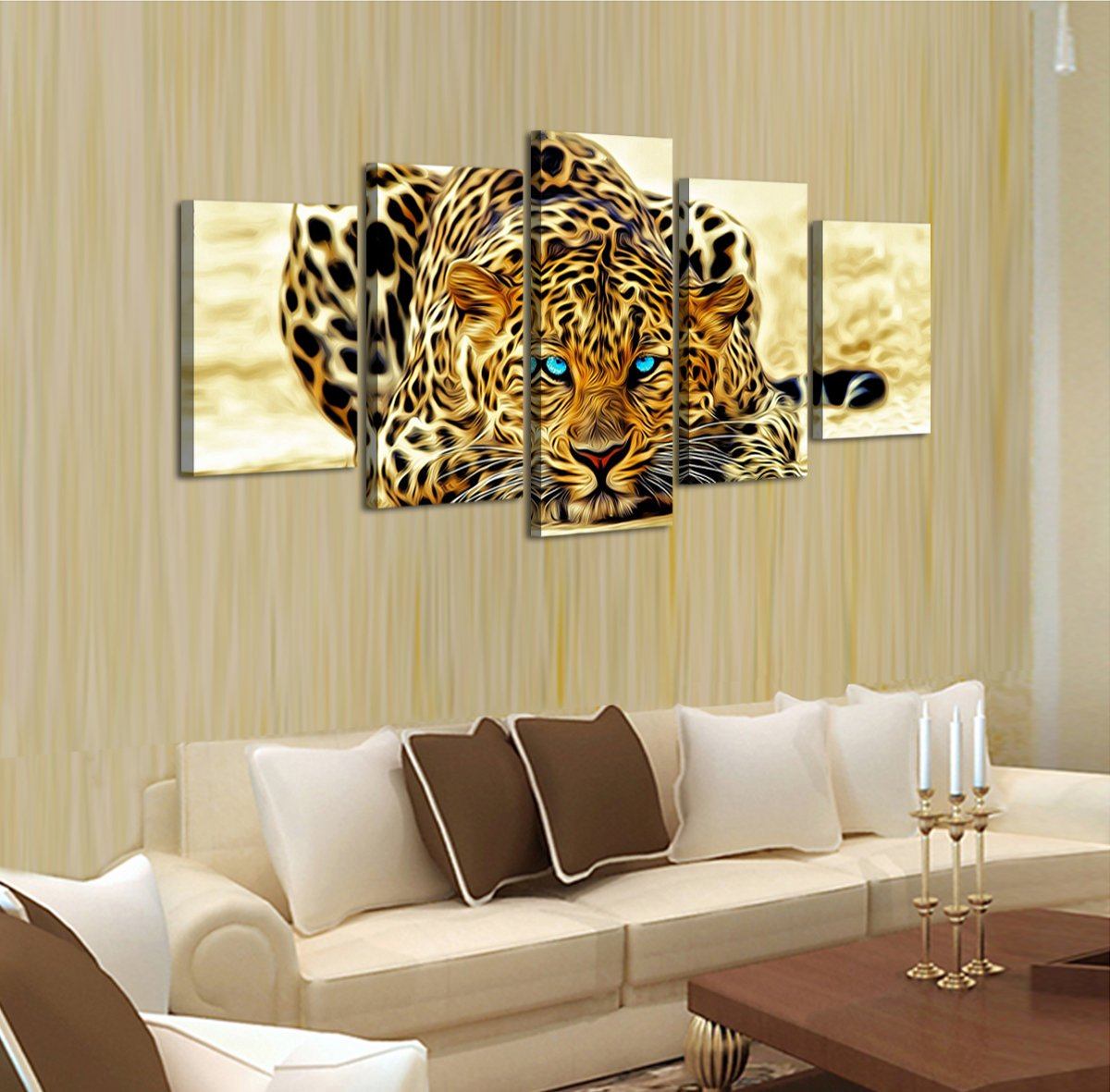 Amazon.com: DZL Art D40339B Home Decoration, Framed, Stretched and ...