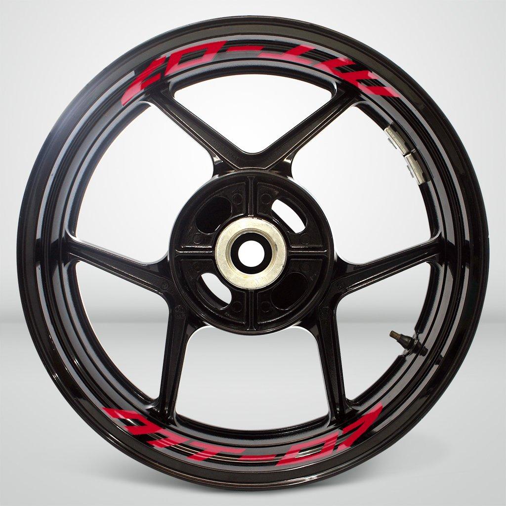 Rosso Lucido Ruote Moto Cerchione Inner Rim Tape Decalcomanie Adesivi per Yamaha MT07