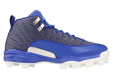 490f59d7c77 Nike Mens Jordan 12 XII Retro MCS Baseball Cleats Game Royal Blue/White  854566-