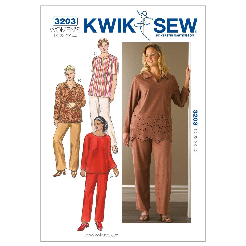 Amazon kwik sew k3203 tunics and pants sewing pattern size amazon kwik sew k3203 tunics and pants sewing pattern size 1x 2x 3x 4x arts crafts sewing jeuxipadfo Choice Image