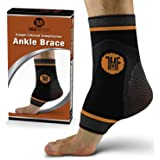 Ankle Compression Brace with Silicone Ankle Support and Anti-Microbial Copper. Plantar Fasciitis, Foot, Achilles Tendon…