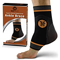 Compression Ankle Brace with Silicone Ankle Support and Copper. Plantar Fasciitis, Foot, & Achilles Tendon Pain Relief…