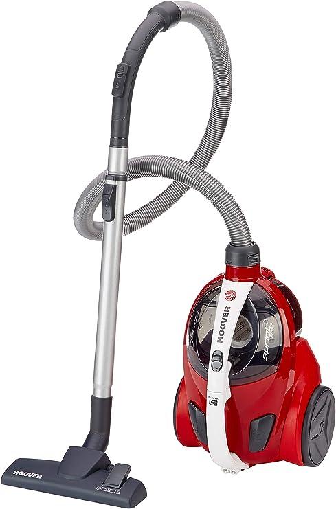 Hoover Sprint Evo SE51 - Aspiradora sin bolsa, ciclónico, Cepillo especial suelos de parquet, suelos duros y alfombras, Filtro EPA, 700W, Depósito 1,5L, 80dBA, Cable 7,5m, Plástico, Rojo, clase A: Hoover: Amazon.es: