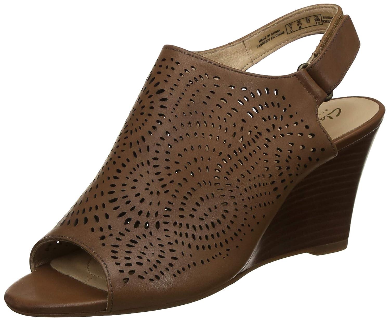 Clarks Schuhe Keilabsatz für Damen 26131855 Raven TAN Leather