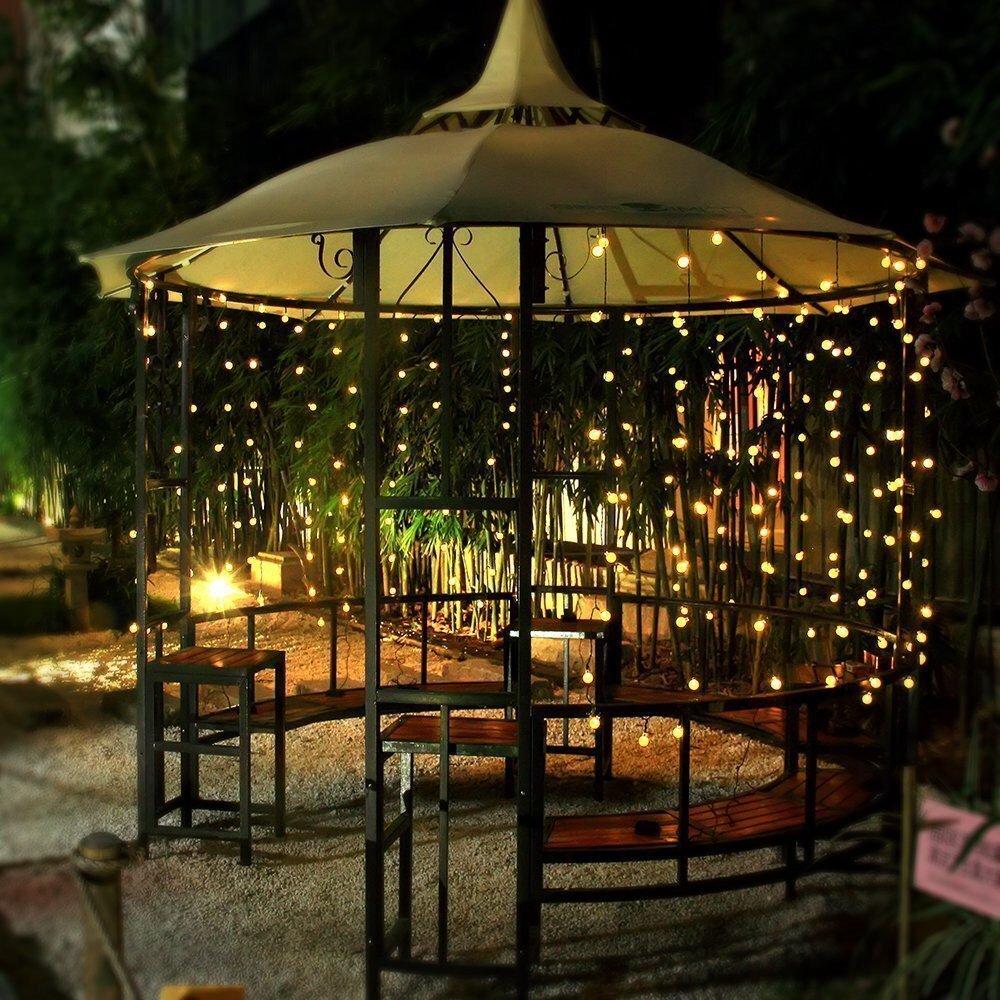 Amazon.com : Ball String Lights, 100 LED 33ft/10m Globe Fairy Lights  Christmas Lights By IDEAS : Garden U0026 Outdoor