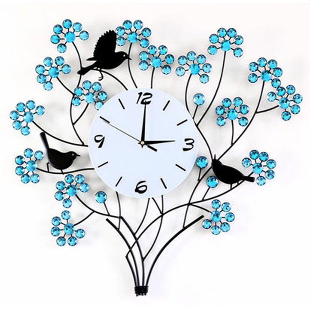 花掛け時計 北欧 おしゃれ クロック 時計 無音 母の日 ウォールクロック 振り子時計 アクセサリー ポーチ付き【UNUSUAL】 B01D1DKNFO