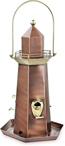 Good Directions BF302VB Copper and Brass Lighthouse Extra-Large 5 lb. Seed Capacity Bird Feeder