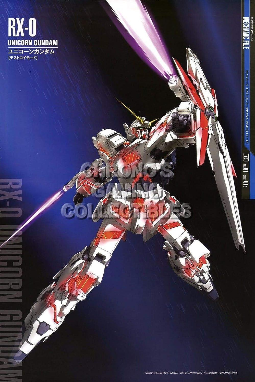 123110 Mobile Suit Gundam Unicorn Anime Decor Decor Wall 36x24 Poster Print
