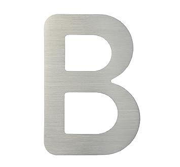 Numero de Maison Lettre B - acier inox brossé - 15 cm - résistant ...