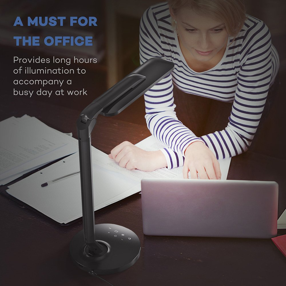 TaoTronics LED Desk Lamp Fully Rotatable Dimmable, Wider Lighting Zone, USB Charging Port, 4 Color Modes and 4 Brightness Levels, 1 Hour Timer, Official Member of Philips EnabLED Licensing Program by TaoTronics (Image #8)