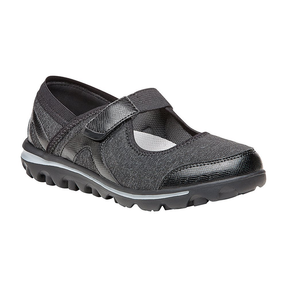 Propét Women's Onalee Mary Jane Flat B01N59WFJ6 10 N US|Grey, Black