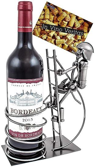 Amazoncom Brubaker Wine Bottle Holder Fire Fighter Table Top