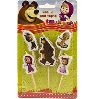Amazoncom Masha and the Bear candle cake birthday party set