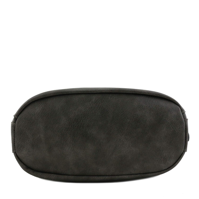 2-pack set i fuskläder stor hobo väska med påse handväska Kolgrå