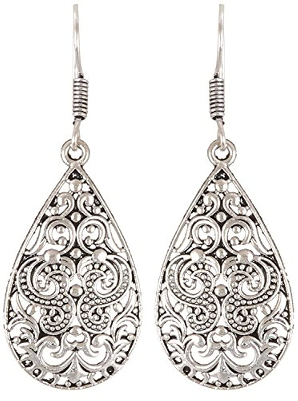 Subharpit Trendy Floral Light Weight Alloy Traditional Indian Dangle Earring for Woman /& Girls