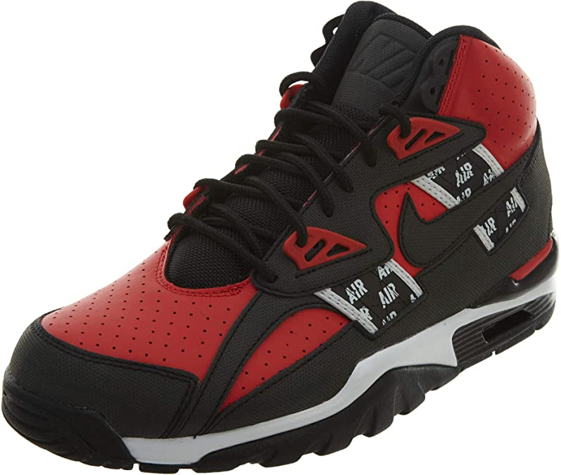 NIKE Mens Air Trainer SC High SOA Shoes Speed RedBlack