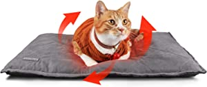 Self Heating Cat Pad Self Warming Cat Mat Thermal Pet Dog Bed Pad 35x23 Inches Removable Cover Outdoor Indoor for Pets