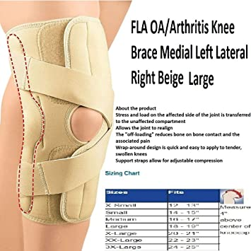 56e94ae066 Image Unavailable. Image not available for. Color: OA/Arthritis Knee Brace, Medial  Left/Lateral Right ...