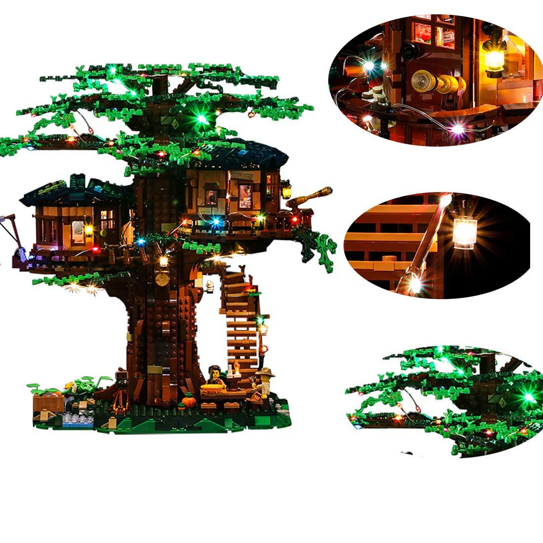 Prima  POXL Set di Luci per (Casa Sull'albero) modellolo - Kit Luce LED Light Compatibile con Lego 21318 ( Non Incluso Il modellolo)