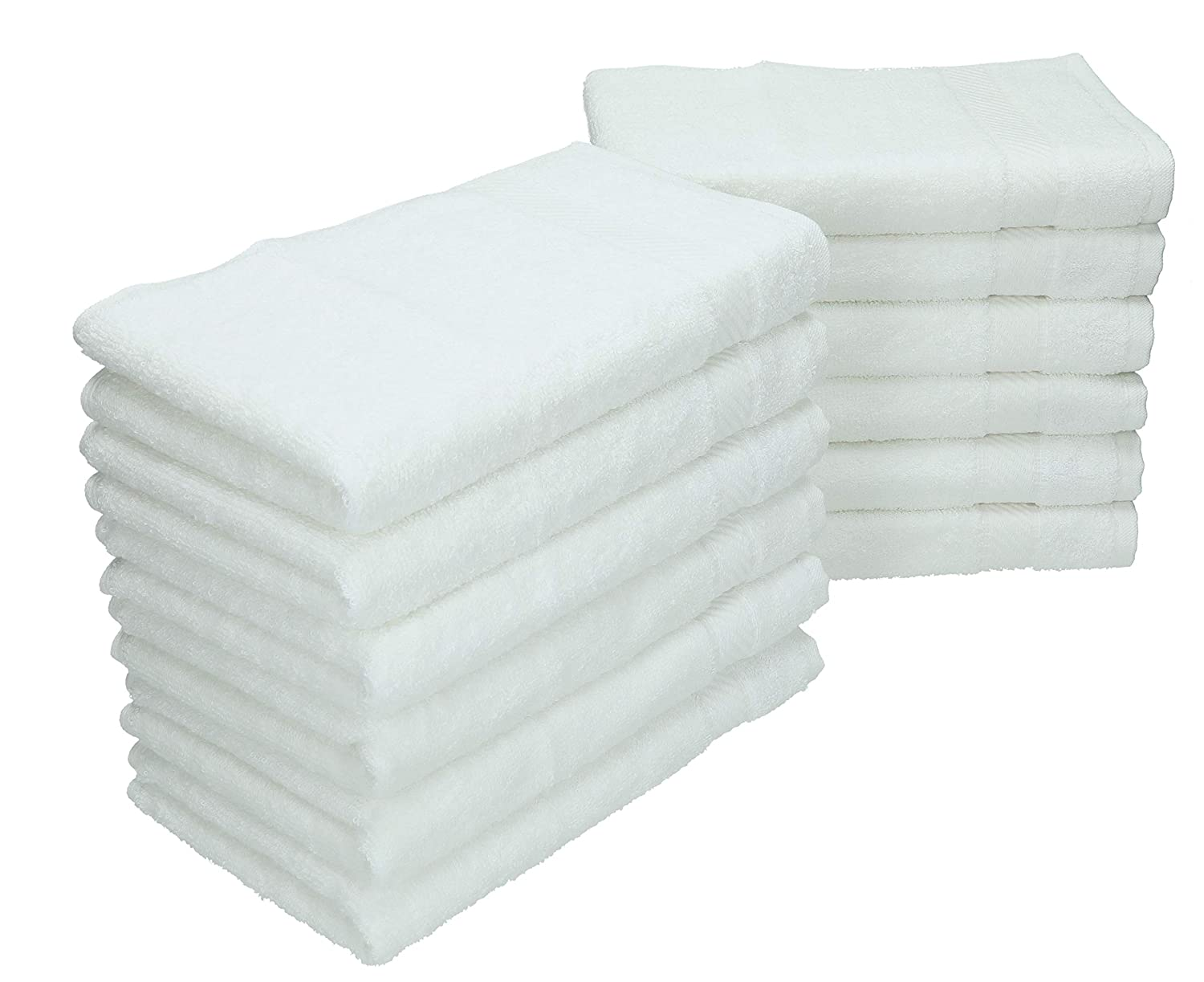 Betz Pack of 12 Guest Towels PALERMO 30x50 cm 100% Cotton (white)
