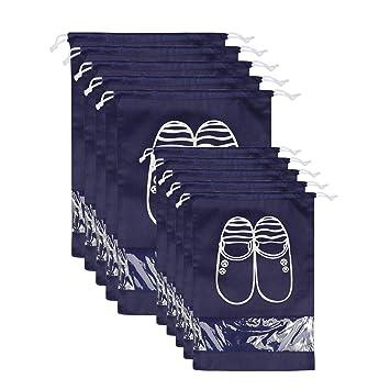 Bolsas para Zapatos,NEWSTYLE 10 Pack Bolsa Impermeable Telas no Tejidas con Ventana Transparente con Dibujar Cadena de Lazo para Botas, Tacón Alto, ...