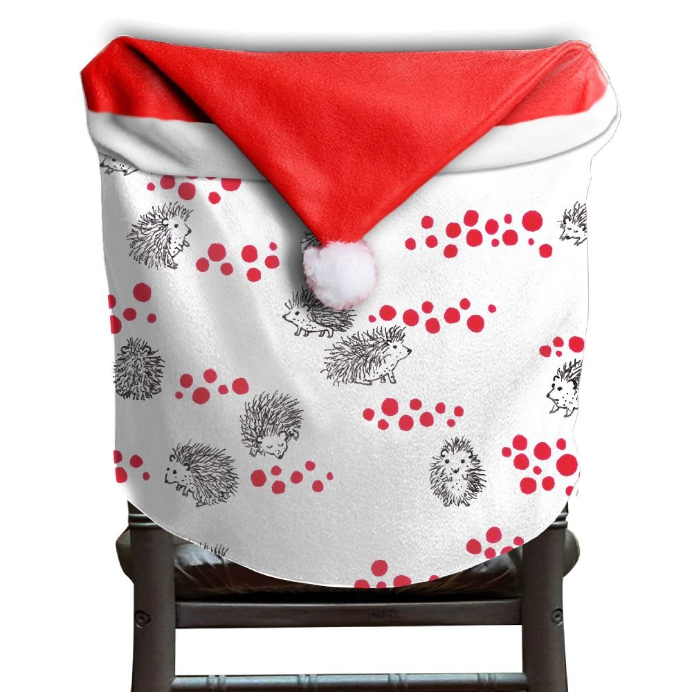 Hedgehog Animals Christmas Chair Covers Personalized Smooth Hang Around Chair For Husbands Chair Back Cover Christmas Holiday Festive